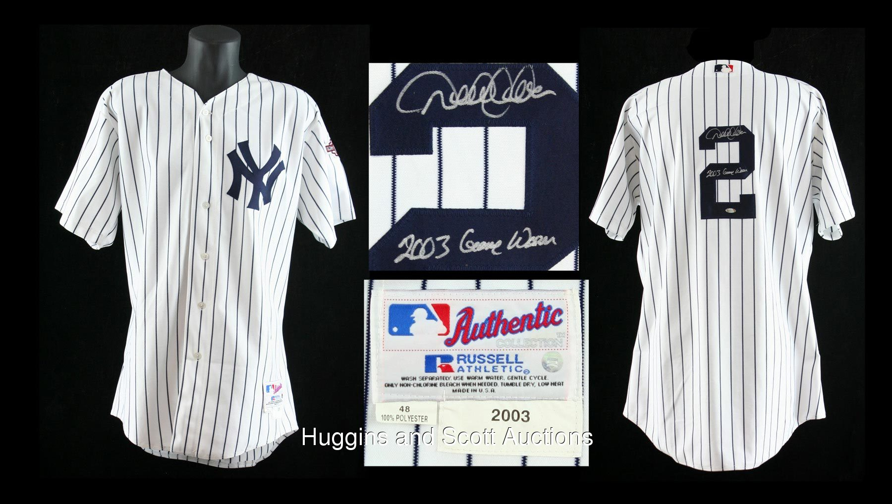 Derek Jeter Game Worn Signed 2003 Home Jersey 178b0dd8a20